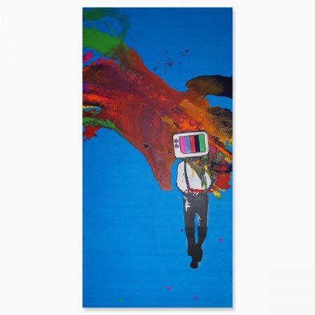 HAPPY ART - TV Head Blue