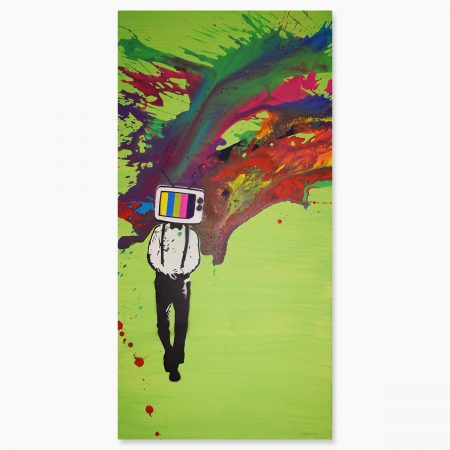 HAPPY ART - TV Head Green