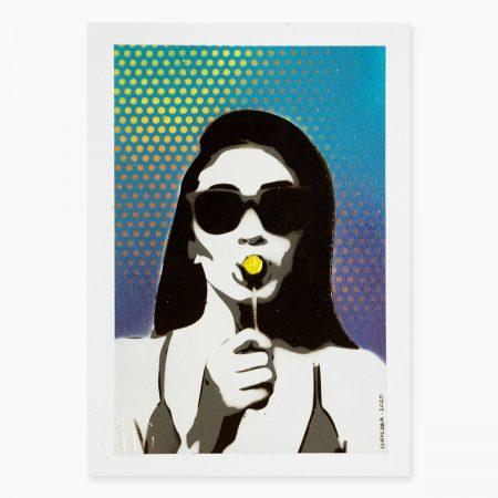 HAPPY ART - lollipop blue (01)